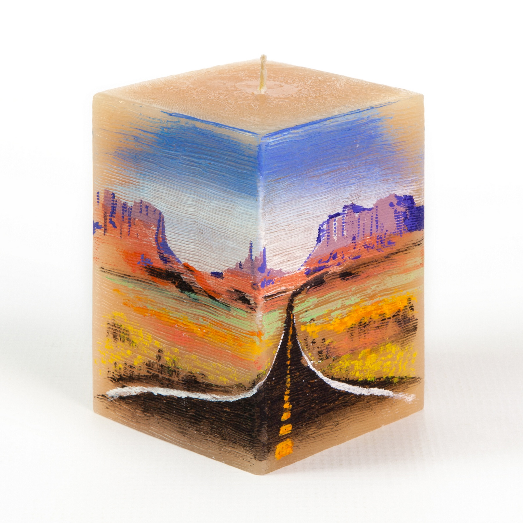 Handmade and Handpainted 'Arizona Road' 3
